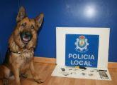 El agente canino Zar desmantela un nuevo punto de venta de sustancias psicotrópicas