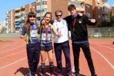 Triplete del club atletismo Mazarrón en la final regional alevín, infantil y cadete