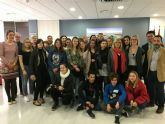El alcalde recibe en el Ayuntamiento a estudiantes de Croacia, Lituania y Bulgaria que participan junto al IES 'Ruiz de Alda' en un programa Erasmus +