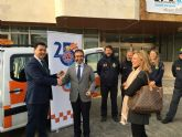 La consejería de Presidencia cede un vehículo a Protección Civil de San Javier para una campaña divulgativa de autoprotección