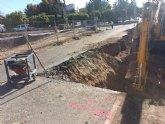 Se inician las obras de reparación para garantizar la seguridad en la carretera de La Huerta de Totana