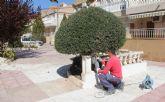 El Ayuntamiento ejecuta tareas de remodelación en la plaza Valdelagrana