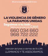 El Ayuntamiento de Caravaca informa que el Centro de Atención a Víctimas de Violencia de Género continúa prestado servicio diario por vía telemática