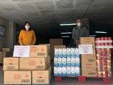 Donación Peña Huertana Alegría Muleña al Programa Municipal de Alimentos