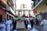 Una treintena de alfombras de colores y más personas que nunca, en la procesión y la misa solemne en honor al Patrón el Corpus