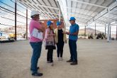 Visita a las obras de la central hortofrut�cola de la empresa Wolmark Alimentos Ecol�gicos en Mazarr�n