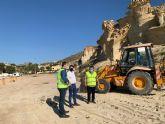 Se inician las obras para proteger las Gredas de Bolnuevo mediante un vallado que impida al visitante aproximarse en exceso