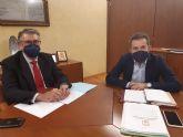 El Presidente de la CHS ha mantenido una reunión de trabajo con el alcalde de Lorquí