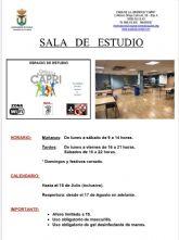 La sala de estudios de la Casa de la Juventud reabrirá mañana con una ampliación de horario