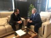 Reunión del alcalde de Mula con el Delegado del Gobierno de la Región de Murcia