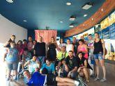 Visita de la asociación prometeo al centro de interpretación del barco fenicio