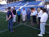 José Antonio Serrano conoce de primera mano el proyecto 'bien estructurado y con ánimo de seguir creciendo' del UCAM Club de Fútbol
