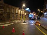 Repintado de marcas viales en varias calles del municipio