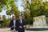 El agua cobra protagonismo en los jardines de Murcia y sus pedanías