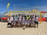 La selección murciana senior de fútbol playa, subcampeona de Espana en Cádiz