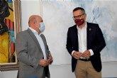 Encuentro institucional entre el portavoz socialista en la Asamblea Diego Conesa y el alcalde