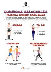 Los 'Sábados saludables' de Las Torres de Cotillas vuelven tras el parón de agosto y pasan a los domingos