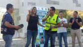 La Alcaldesa recibe a los participantes en la II Concentración Nacional de Policías Motoristas que se desarrolla en Archena