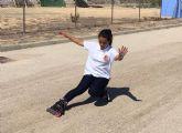 La campeona de España de freestyle de patinaje enseñó sus mejores trucos en Las Torres de Cotillas