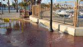 Se colapsa el tanque de tormentas de Lo Pagán (San Pedro del Pinatar).