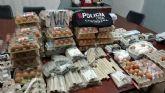 La Policía Local interviene 73 docenas de huevos y 153 artefactos pirotécnicos en la noche de Halloween