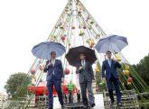 Murcia se llenará de luz a partir del próximo sábado con 9 árboles de Navidad distribuidos por las principales plazas