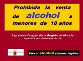 Promueven una campaña de concienciación ciudadana para prohibir la venta y consumo de alcohol a menores de 18 años.