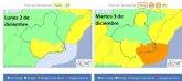 Importante episodio de lluvia y viento en el sureste en los pr�ximos d�as