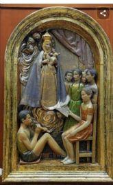 Piden al ayuntamiento que devuelva el mural de la Virgen de la Fuensanta con niños a Espinardo