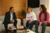 Responsables regionales de Cruz Roja Española en la Regi�n trabajan para restablecer el funcionamiento de la Asamblea Local en Totana