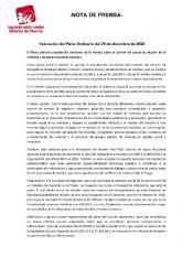 Valoraci�n del Pleno Ordinario del 29 de diciembre de 2020. IU Verdes