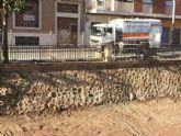 Finalizan las obras de acondicionamiento en uno de los muros de la rambla de La Santa para evitar filtraciones al cauce