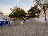 Servicios amplía la desinfección ante la covid19 a los patios y pistas deportivas de los centros educativos