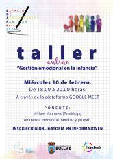 Taller online 'Gestión emocional en la infancia'