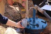 Recogida de muestras del agua termal de Alhama