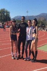 Cinco medallas para el Club Atletismo Mazarr�n en el Regional Sub-18, con triplete para Miriam S�ez