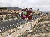 Instalan en la Autovía A-30 carteles de Cieza como destino turístico
