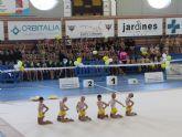 Más de 450 participantes en la exhibición de gimnasia rítmica celebrada en el Centro Deportivo Municipal de Puerto Lumbreras