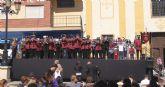 250 músicos participan en el Encuentro de Bandas de Tambores y Cornetas de Semana Santa en Puerto Lumbreras