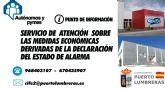 Puerto Lumbreras pone en marcha un servicio de atención a autónomos y pymes sobre las medidas económicas ante el Estado de Alarma