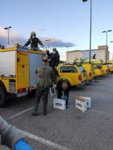 Un dispositivo especial formado por 30 vehículos y 55 efectivos de la Brigada Forestal de la UDIF lleva a cabo, hoy jueves 2 de abril, labores de limpieza y desinfección en zonas sensibles de Molina de Segura para prevenir expansión del COVID-19