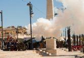 Artilleria homenajea en Cartagena a los heroes del 2 de mayo