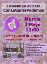 La candidatura ConLaGentePodemos celebra este domingo 7 de Mayo su Asamblea Constituyente