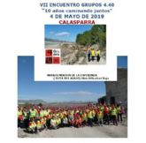 180 participantes de los grupos 4/40 caminan por la salud el próximo sábado por los Senderos de la Esperanza