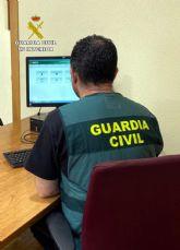 La Guardia Civil detiene en Murcia a una persona dedicada a cometer estafas