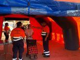 El mercado semanal de Alcantarilla ya cuenta con todos los puestos de alimentación, ropa, calzado y hogar