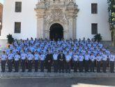 López Miras recibe a los alumnos que han concluido su periodo de formación en la Academia General del Aire de San Javier