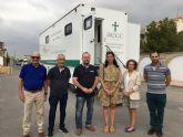 Más de 70 mujeres menores de 50 años se han realizado una mamografía hoy en San Javier en la Unidad Móvil de la AECC Murcia