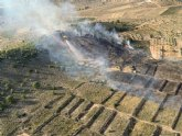 Incendio forestal en Cañada de la Leña (Abanilla)