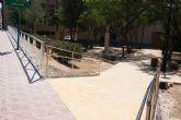 Nueva pavimentación en Rihuete Alto y mejoras de acceso peatonal en la calle la Vía